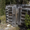 An old miner's cabin at the Money Prospect about 2 miles up the trail to Browns Lake.- Little Queens River - Browns Lake