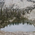 Triangle Lake is perched several hundred feet above Browns Lake.- Little Queens River - Browns Lake