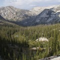 The view into Johnson Creek from the Johnson Divide.- Little Queens River - Browns Lake