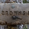 Trail sign.- Little Queens River - Browns Lake