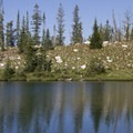 An unnamed lake in the north lobe of Flytrip Basin.- Middle Fork of the Boise River, Camp Lakes and Flytrip Basin
