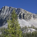 A view of Peak 9,963 from the Flytrip Creek Trail.- Middle Fork of the Boise River, Camp Lakes and Flytrip Basin