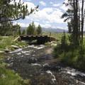 The bridge over Decker Creek (FS 210) from the primitive Bull Moose Trailhead.- Bull Moose Creek