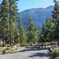Road through the campground.- Kachess Lake Campground