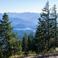 View down to Lake Easton.- Kachess Beacon