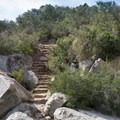 Stone stairs leading down to the creek.- Los Peñasquitos Canyon Preserve