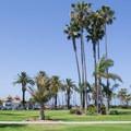 Peninsula Park is adjacent to the beach.- Newport Municipal Beach