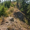 Returning to the trail from Wauna Point.- Wauna Point Hike