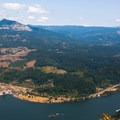 Looking out over the Columbia River Gorge from Wauna Point- Wauna Point Hike