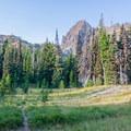 Entry into the meadows.- Canyon Creek Meadows