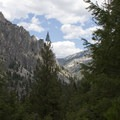 Hikers up China Basin will get some glimpses looking up the Queens River Canyon.- China Basin to Joe Daley Creek