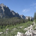 One of the first majestic views from the trail.- Cramer Lakes + Divide