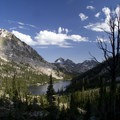 Hidden Lake from the west side of the Cramer Divide.- Cramer Lakes + Divide