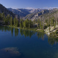 Leggit Lake from the south shore.- Middle Fork of the Boise River, Leggit Lake