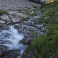 Leggit Creek tumbles over bedrock on its journey to the Middle Fork of the Boise River.- Middle Fork of the Boise River, Leggit Lake