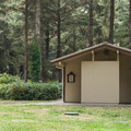 Restrooms in the upper tent loop.- Bastendorff Beach County Park Campground