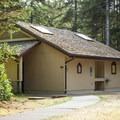 Showers and restrooms in the lower loop.- Bastendorff Beach County Park Campground