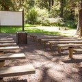 An amphitheater in the day use area.- Sunset Bay State Park
