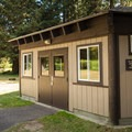 The day use area has a shelter that is available for visitor use by reservation.- Sunset Bay State Park