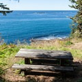 Cape Arago State Park has plenty if picnic areas along the paved paths that wind around the headland.- Cape Arago State Park
