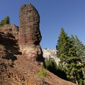 Wild rock formations overlook the ridgetop portions of the trail.- Windy Pass + Sawtooth Mountain Loop