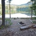 Unimproved campsite at June Lake.- Timpanogas + Indigo + June Lake Trails