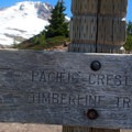 The trail is accessed shortly above Timberline Lodge.- Timberline Trail