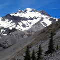 Mount Hood (11,250 ft) from the top of Zig Zag drainage.- Timberline Trail
