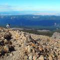 Crossing below Cooper Spur.- Timberline Trail