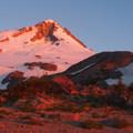 Alpenglow on Mount Hood (11,250 ft).- Timberline Trail
