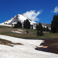 Mount Hood (11,250 ft) from Mount Hood Meadows.- Timberline Trail