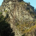 Beacon Rock from the parking lot.- Beacon Rock: Southeast Face