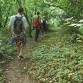 Approach hike.- Beacon Rock: Southeast Face