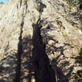 Beacon Rock from the approach.- Beacon Rock: Southeast Face