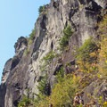 One of the many large belay stations.- Beacon Rock: Southeast Face