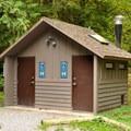 Bathrooms near loop 1.- Silver Lake Park Campground