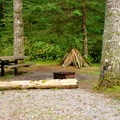 Typical site in the horse camp loop.- Silver Lake Park Campground