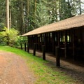 Horse camp stables. - Silver Lake Park Campground