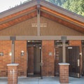 Clean restrooms and showers at Humbug Mountain State Park Campground.- Humbug Mountain State Park Campground