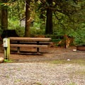 RV partial-hookup site in the campground. - Silver Lake Park