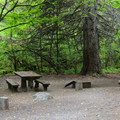 Typical single site at Wish-Poosh Campground.- Wish-Poosh Campground