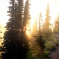 Sun setting on the climb down from the Mount Fremont Lookout.- Mount Fremont Lookout Trail