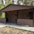 Restrooms at Eel Creek Campground.- Eel Creek Campground