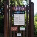 The Lake Marie Trailhead.- Lake Marie