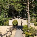 Restrooms and showers in Umpqua Lighthouse State Park.- Umpqua Lighthouse State Park Campground