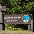 The entrance to William M. Tugman State Park.- William M. Tugman State Park Campground
