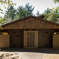 Clean restrooms and showers at William M. Tugman State Park.- William M. Tugman State Park Campground