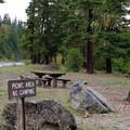 Picnic area near the campground.- Red Mountain Campground