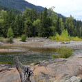 Cle Elum River.- Red Mountain Campground