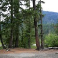 Campsite with views at Red Mountain Campground.- Red Mountain Campground